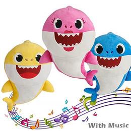 $enCountryForm.capitalKeyWord NZ - 30CM Music Singing BABY SHARK Plush Toys Music 12inch Sing English Songs 12'' Stuffed&Plush Dolls Shark Making Fun BABY MOMMY DADDY Grandpa