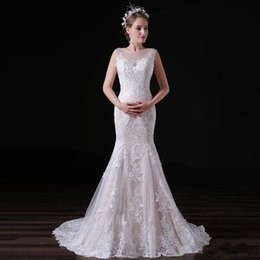 t shirt dress winter Australia - 2019 Newest Lace Up Lace Wedding Dresses Simple Dress Mermaid Sweep Train T-shirt Wedding Dresses Custom Made Vestidos De Novia Cheap