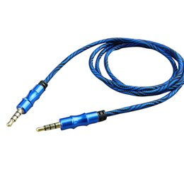 Foil Connector Australia - 10PC 3.5mm Jack AUX Cable MP3   MP4 Player Speaker For Television Amplifier Multimedia Microphone Computer DVD Audio Cable Connector