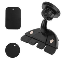 Discount multifunction phone holder - Car Phone Holder Adjustable Angle Magnetic Black Bracket Universal CD Slot Multifunction Rotate Support Degree Smartphon