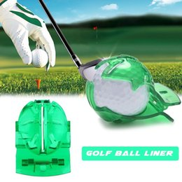 wholesale golf pens Australia - Golf Scribe Accessories Supplies Transparent Golf Ball Green Line Clip Liner Marker Pen Template Alignment Marks Tool Putting