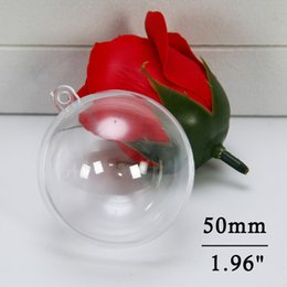 Clear Balls Australia - Clear Christmas Ball Ornaments DIY Bath Bombs Ornament Ball Craft Plastic Ball Ornament for Wedding Party Christmas Decor 50mm(5pcs)