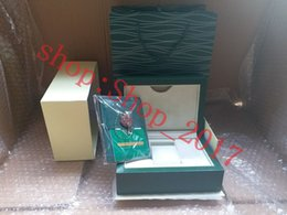 $enCountryForm.capitalKeyWord Australia - Luxury New Style Brand Green Watch Original Wood Box Papers Gift Watches Boxes Leather bag Card For Rolex Box 116600 Watch Box 005