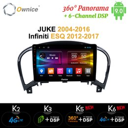 nissan android gps dvd UK - Ownice Android 9.0 360 Panorama Car DVD Radio Player k6 For NISSAN JUKE 2004 - 2016 for infiniti ESQ 2012-2017