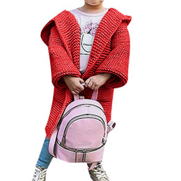 Discount baby girls red cardigan - Oeak Baby Girl Coat Warm Baby Girl Kids Knitted Pink Red Beige Sweater Cardigan Coat Jacket Winter Warm Outerwear Clothi