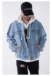Contrast Painting Australia - 2018 Europe and the United States tide brand spring and autumn new men's clothing hand-painted saint oil painting men's jacket denim jacket