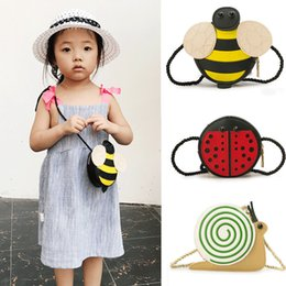$enCountryForm.capitalKeyWord Australia - Brand New Baby Girls Tassel Purse handbag Children Kids Cross-body shoulder bag Gifts Cartoon Animals Bag Snail Ladybug Bee