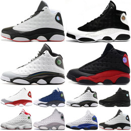 Hologram Shoes NZ - 13 13s Men Basketball Shoes AAA Quality Bred Flints Barons Hologram He Got Game Black Cat Designer Sport Sneakers US 7-13