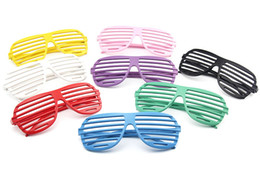 $enCountryForm.capitalKeyWord Australia - Shutter Shades Glasses Toys for Adults Costume Party Glasses Decorative Glasses without Lens 8 Colors WB394
