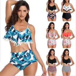$enCountryForm.capitalKeyWord NZ - Swimsuit High Waist Bikini Designer Tassel Maillot De Bain Printed Lotus Swimwear Fission Floral Costume Da Bagno Donna Bathing Suit