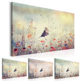large floral canvas art UK - Unframed 1 Panel Large HD Printed Canvas Print Painting Animal Bird Home Decoration Wall Pictures for Living Room Wall Art on Canvas