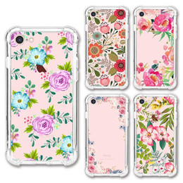 $enCountryForm.capitalKeyWord Australia - Phone Case For iPhone XS Max XR Retro Floral Flower Painted Transparent Soft TPU Mobile Phone Case For Samsung