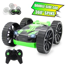 Car Sides Australia - Rc Car 4ch Double -Side Rc Drift Car Rock Crawlers Rolling Remote Buggy Cars With Radio Remote Controller Controlled Cars Auto Rc