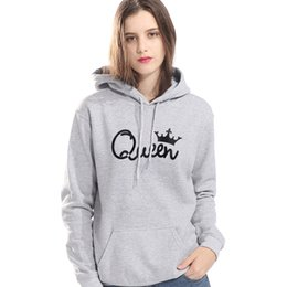 Hoodies Clothes For Female Australia - Female Sweatshirt For Autumn Winter Brand Clothes Tops 2019 Fashion Streetwear Hoody Queen Crown Kawaii Women's Hoodies Pullover