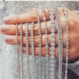 Опт 20 стиль игристые роскошные ювелирные изделия стерлингового серебра 925 пробы мульти форма белый Топаз CZ Алмаз драгоценные камни женщины свадебный браслет для любовника подарок