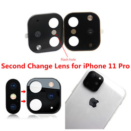 stickers for iphone cases NZ - Applicable for iPhone X XS MAX Second Change Lens for iPhone 11 Pro Max Lens Sticker Modified Camera Cover Alloy Back Case Flash Working