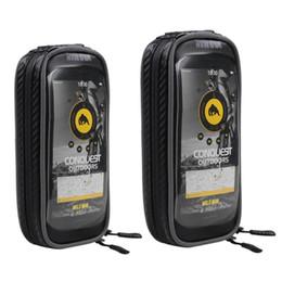 Waterproof Bicycle Mount Australia - Bicycle Mobile Phone Holder Bag Waterproof TPU Touchscreen Bike Mobile Phone Holder Stand Motorcycle Handlebar Mount Bag