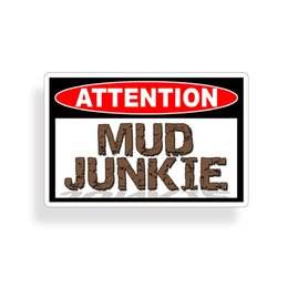 Discount funny truck decals stickers - Funny Mud Junkie Sticker Off Road Bog ATV Truck 4x4 Funny Cooler Redneck Decal