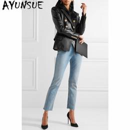 $enCountryForm.capitalKeyWord Australia - AYUNSUE Autumn Genuine Leather Jacket Women Clothes 2019 Korean Fashion Streetwear Sheepskin Real Leather Coat Motorcycle 7718