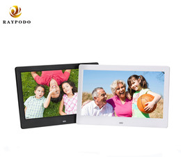 mounting card Canada - Raypodo 10.1 inch wall mount 1024 * 600 Resolution Full HD digital photo frame with black and white color