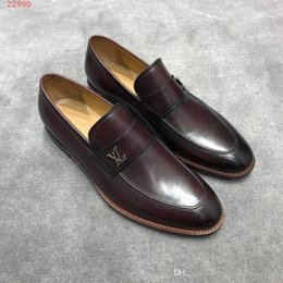 casual men leather upper shoes NZ - spring new men shoes set leather casual shoes breathable insole, Business the upper is leather fabric, rubber outsole, comfortable and non-s