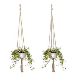 $enCountryForm.capitalKeyWord Australia - Plant Hanger Jute Rope Flower Pot Handmade Knitting Plant Holder Hanging Basket with Hook novelty Indoor Outdoor Home Garden Balcony Decor