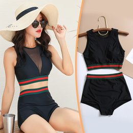 $enCountryForm.capitalKeyWord UK - 2019 new hot spring swimsuit two-piece Korean version of the small chest gathered swimsuit tight-fitting sports split swimsuit female genera
