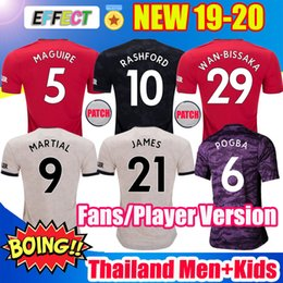 Discount soccer jerseys player version - Top Thailand MAGUIRE RASHFORD 19 20 manchester soccer jerseys utd 2019 2020 JAMES football kit MARTIAL united Player Ver