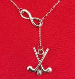 $enCountryForm.capitalKeyWord Australia - Vintage Silver Infinity Dress Golf Necklaces Gothic Skeleton Slice Arrow Bicycle Wing Snowflake Statement Necklace Pendant Women Jewelry