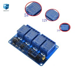 channel 5v relay module Australia - 10PCS 4 way Relay Module 5V 12V 24V 4 Channel Relay Module ARM PIC AVR DSP Electronic 5V 4-Channel Relay Module freeshipping