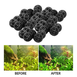 fish balls Australia - 20-100pcs 18mm Aquarium Filter Bio Balls Wet Dry Canister Filters Media Fish Tank Biological Ball
