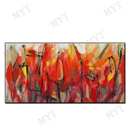 $enCountryForm.capitalKeyWord Australia - Modern Abstract wall art home decor 100%Hand-painted Abstract Oil Painting on canvas red color landscape for living room no framed