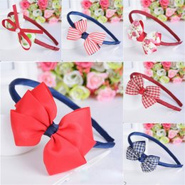baby flower head pieces UK - New Fashion Hot Children Kids Baby Girls Big Ribbon Bowknot Headband Headwear Hair Band Head Piece Accessories Wholesale KFJ680