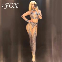 $enCountryForm.capitalKeyWord Australia - Women Jazz Costume Rhinestone Bodysuit Pole Dance Performance Clothing Nightclub DJ Gogo Stage Wear Beyonce Jumpsuit DNV10536