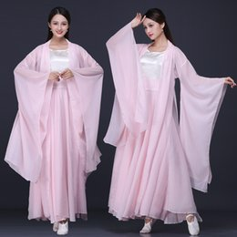 $enCountryForm.capitalKeyWord Australia - Chinese Folk Dance Ancient Chinese Costume Fairy Clothes for Women Hanfu Water Sleeves National Traditional Stage Costume DL4159