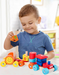 $enCountryForm.capitalKeyWord NZ - Multi Function Wooden Train Model Toys Building Blocks Removable Early Childhood Educational Toys for 3 Years and up Kids