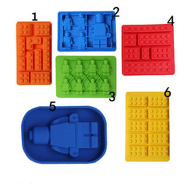 $enCountryForm.capitalKeyWord Australia - 1 Piece Silicone Lego Building Blocks Robot 3D DIY Mold Chocolate Tray Jello Brownie Dessert Pastries Mould Cake Decoration Tool