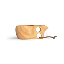 $enCountryForm.capitalKeyWord Australia - 60pcs lot Kuksa Cup New Finland Handmade Portable Wooden Cup for Coffee Milk Water Mug Tourism Gift
