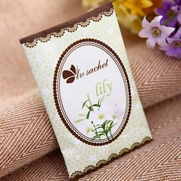 Scented Wardrobe Sachets Australia - Scented Fragrance Home Wardrobe Drawer BedRoom Perfume Bags Deodoriser Sachet 7Pcs pack