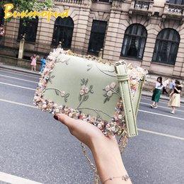 Ladies Briefcase Handbags Australia - 2019 new summer small square bag PU wild Messenger chain shoulder bag fashion simple multi-function commute briefcase Handbag.