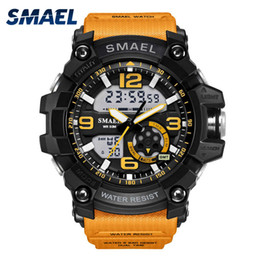 Army duAl wAtch online shopping - S Shock Military Watches Army Men s Wristwatch LED Quartz Watch Digtial Dual Time Men Clock reloj hombre Sport Watch Army