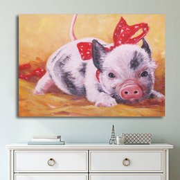 pig paintings NZ - HD Printed 1 Piece Artwork Watercolor Pig Canvas Prints Painting Giclee Piglet Wall Pictures for Kids Room Posters and Prints