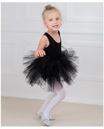 2654bb237 Kids girls ballet skirt dresses kids TuTu baby love Dancing clothes Black  swan Dancewear Costumes 3-10T