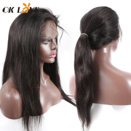 14 inch wigs straight Australia - OKLove Lace Front Human Hair Wigs 150% Density 8-26 Inch 100% Brazilian Virgin Hair Straight Glueless Wig With Baby Hair