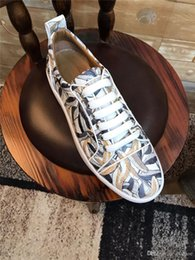 real rubber Australia - Luxury Run Away Sneaker Men Fashion Casual Designer Shoe Lace-up Pinted Real Lether Rubber Sneakers Sole Rivoli Classic Flats Shoe MMMMMME