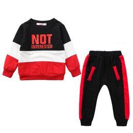 03c4f2efcc3 Baby girls boys outfits children letter print top+pants 2pcs set 2019  spring autumn sportswear kids Clothing Sets C5815