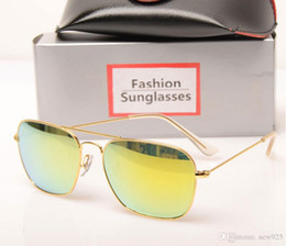 mens wholesale glasses Australia - 10PCS New 3136 sunglasses glass lens High Quality mens sun glasses Color lens Mirror sunglasses womens glasses Brand Designer sun glasses