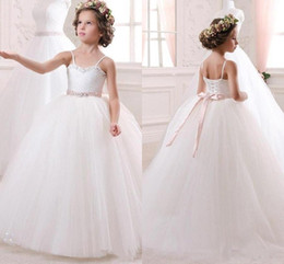 4e9a1489f37 Spaghetti girlS dreSS online shopping - New Spaghetti Strap A Line Flower  Girl Dresses Lace up
