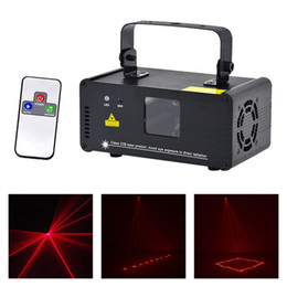 professional laser show equipment Australia - AUCD IR Remote PRO Mini 8 CH DMX 512 200mW Red Laser Stage Lighting Scanner DJ Party Show Projector Equipment Lights DM-R200