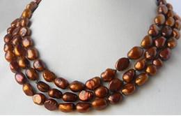$enCountryForm.capitalKeyWord Australia - 50'' 9MM Coffee Baroque Freshwater pearl Necklace